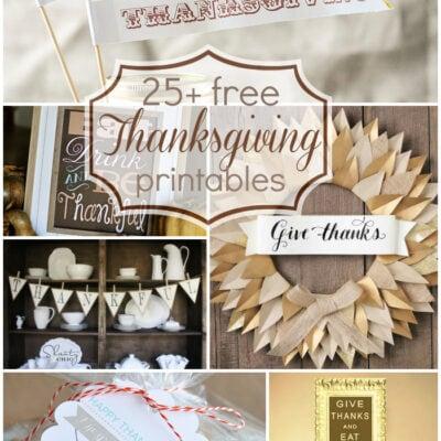 25+ Free Thanksgiving Printables