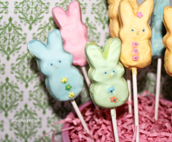 CHEEPS chocolate covered PEEPS by LollyJane.com