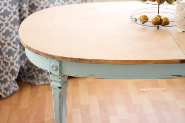 Table painted with chalk paint