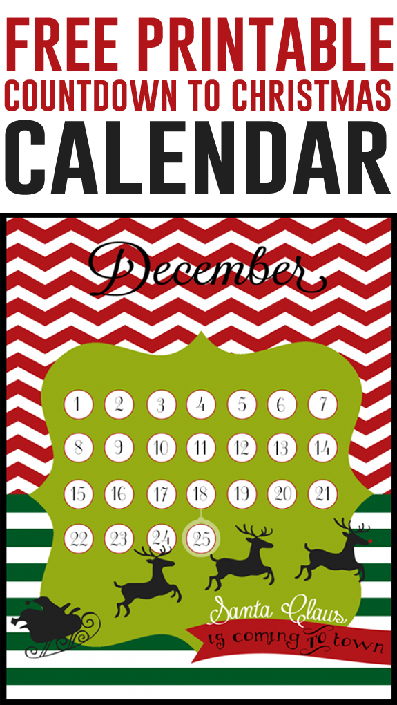 picture relating to Countdown Calendar Printable titled Xmas countdown Absolutely free 8x10 printables