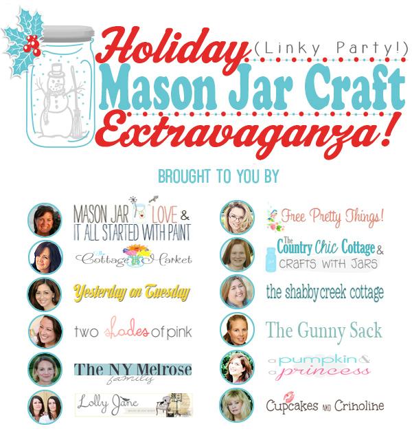 Holiday [link party] mason jar craft extravaganza
