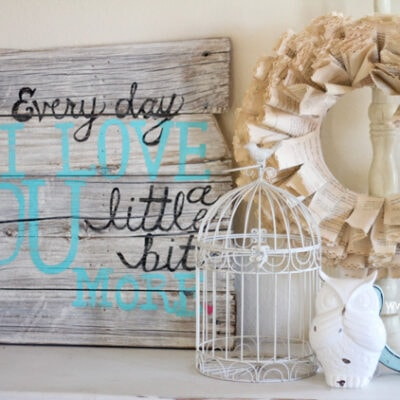 DIY pallet art with frame