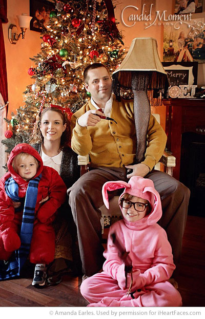 funny family christmas picture idea
