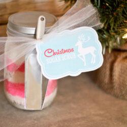 Christmas sugar scrub + free printable tag