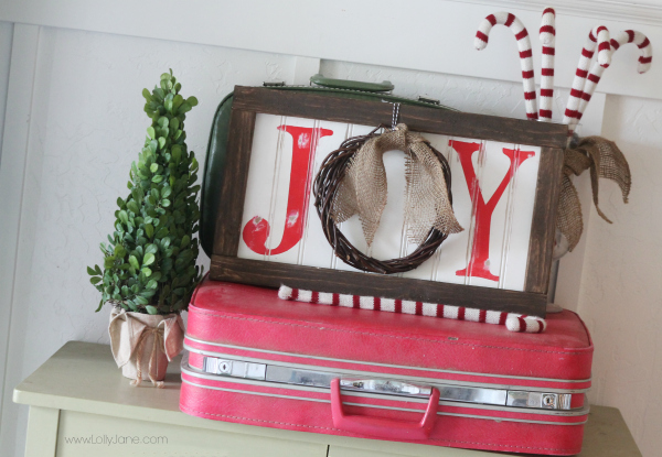 easy christmas joy sign tutorial cute wreath in place of the o