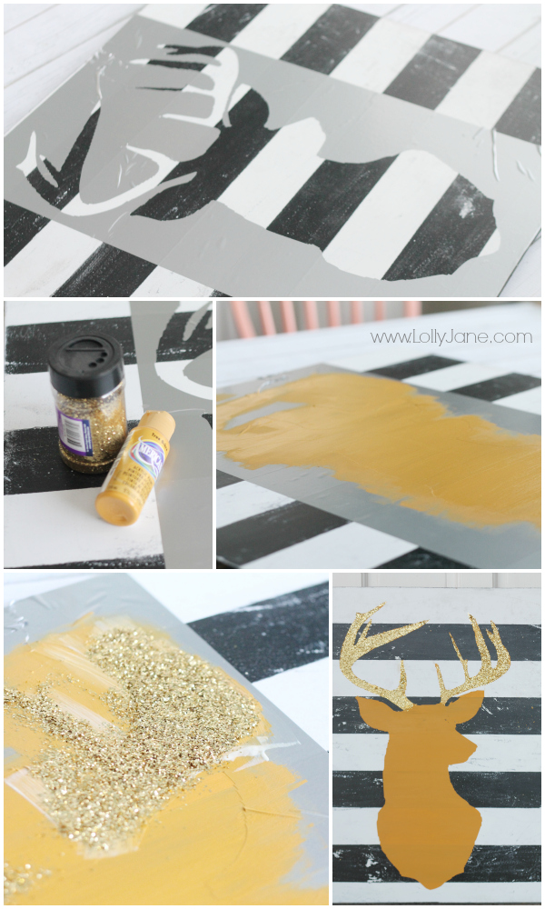 How to make deer head art #diy #deerheadart