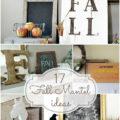 17 Fall Mantel ideas! #fall #decor