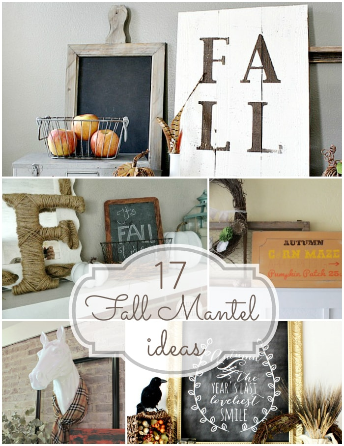 F is for Fall Mantels