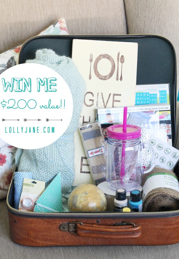 Win all these cute goodies on lollyjane.com! Over a $200 value!! #giveaway #FavThingsHop