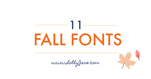 11 free fall fonts to warm up your autumn. Grab your favorite cozy sweater and a cup of pumpkin spice hot cocoa then enjoy these cozy free fall fonts. #fallfont #fallfonts #falldecor #freefallfonts