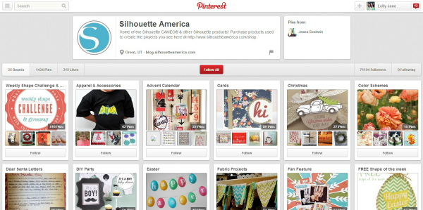 Silhouette on Pinterest!