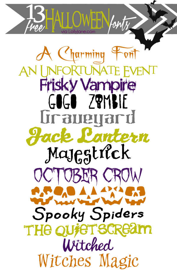 13 FREE Halloween fonts