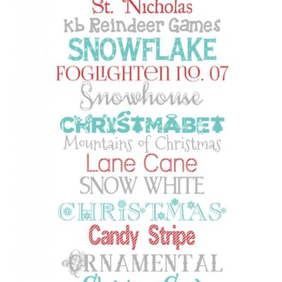 Free Christmas fonts + dingbat graphics
