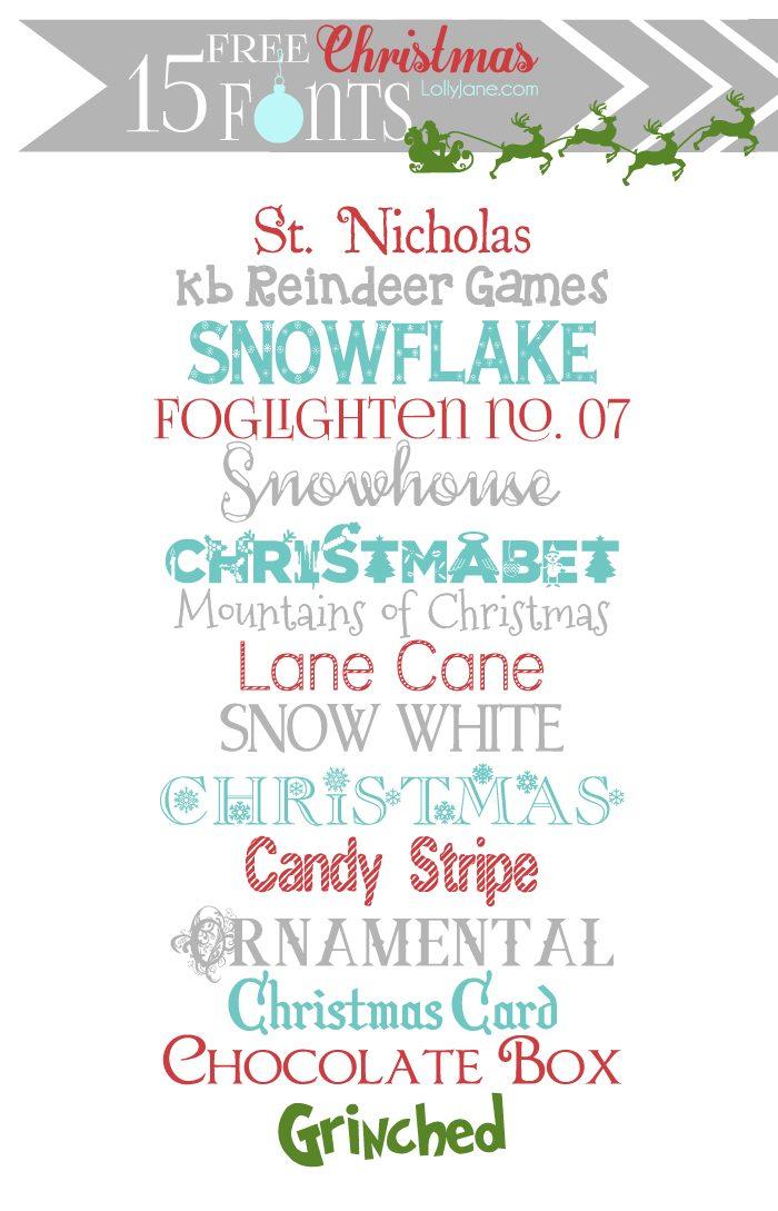 Free Christmas Printable: Free Christmas Fonts + Dingbat Graphics
