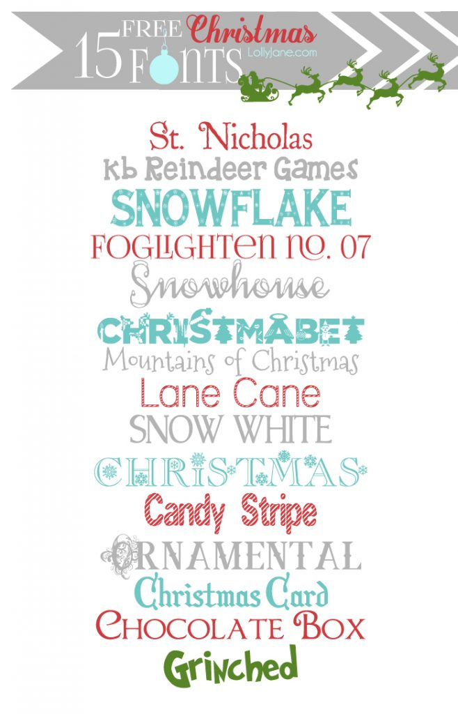 Free Christmas fonts + dingbat graphics - Lolly Jane