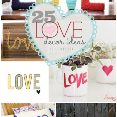 25 love decor ideas