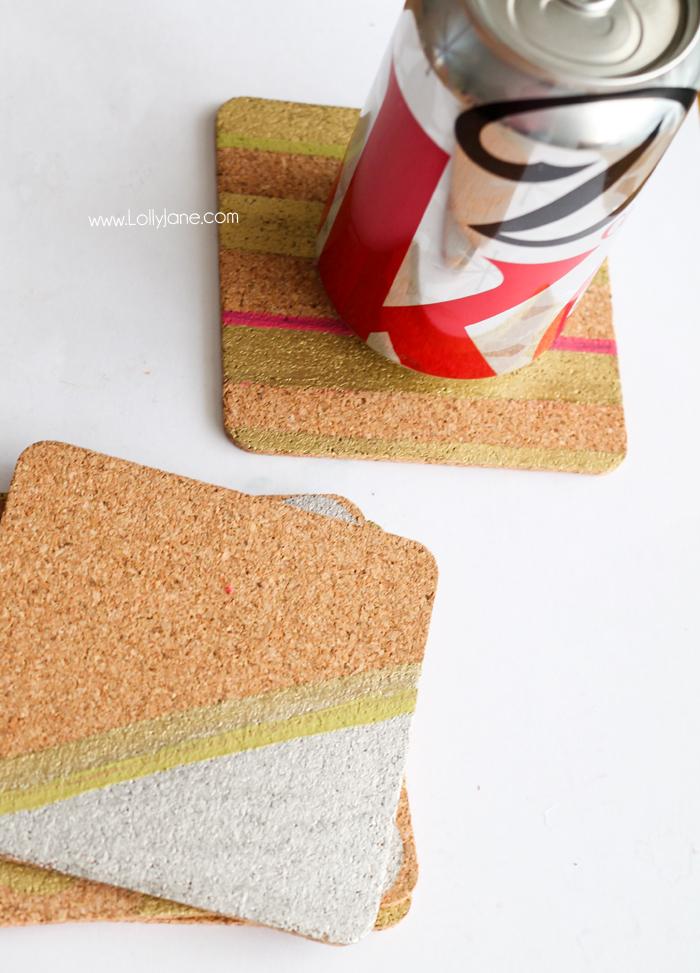 Cool Modern Cork Coaster tutorial