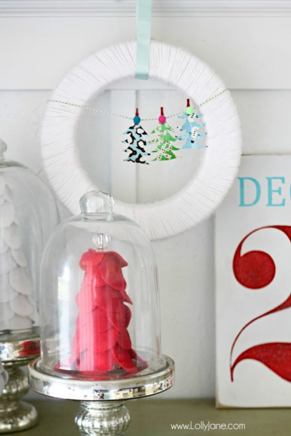 DIY Christmas Tree Bunting (made from Duck Tape!)