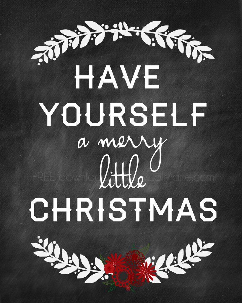 FREE Christmas Printable by LollyJane