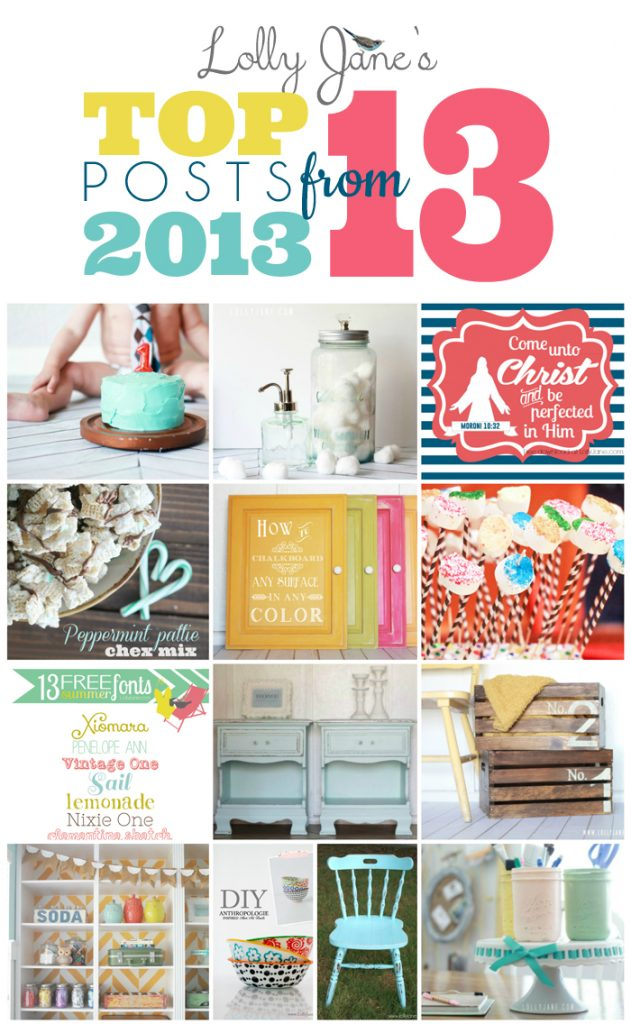 Lolly Jane.com's top 13 posts of 2013 (cute site with easy tutorials!)