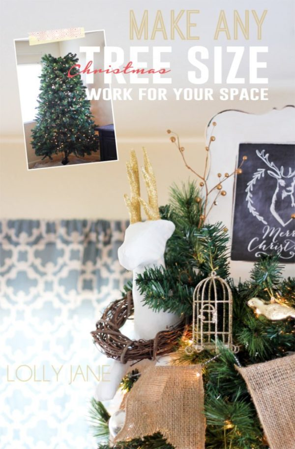 How To Make ANY Size Christmas Tree Work for YOUR Space
