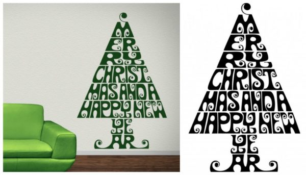 Merry Christmas tree decal from iconwallsticker.com