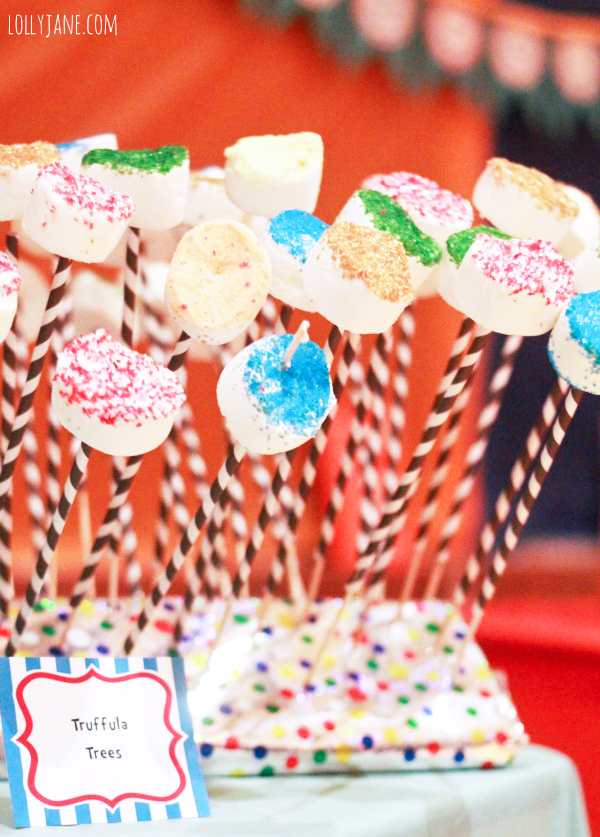 "New Beginnings Dr. Seuss decorating ideas including these adorable ""truffala trees"""