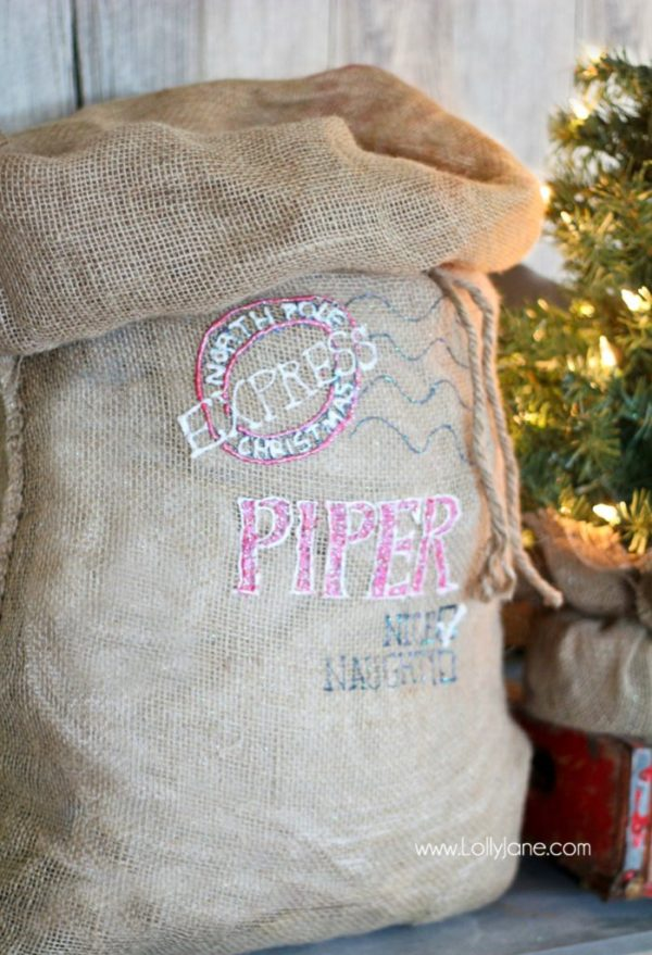 Personalized Santa Christmas Sack