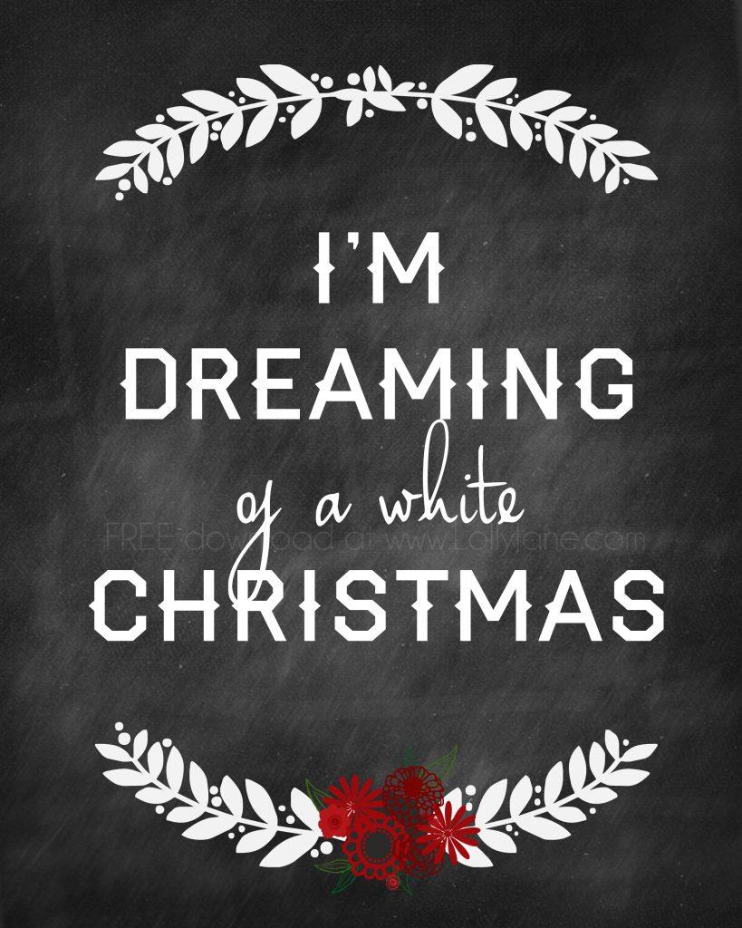 White Christmas Printable 8x10