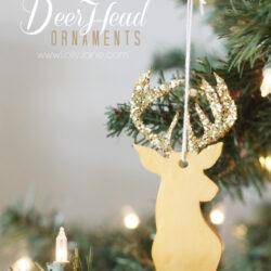 Easy Clay Deer Head Ornament