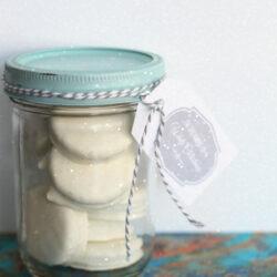 white Christmas Oreo treat jar