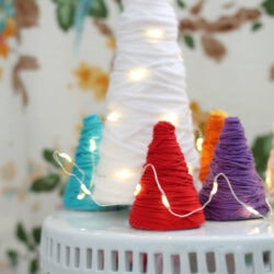 Colorful Yarn Wrapped Trees
