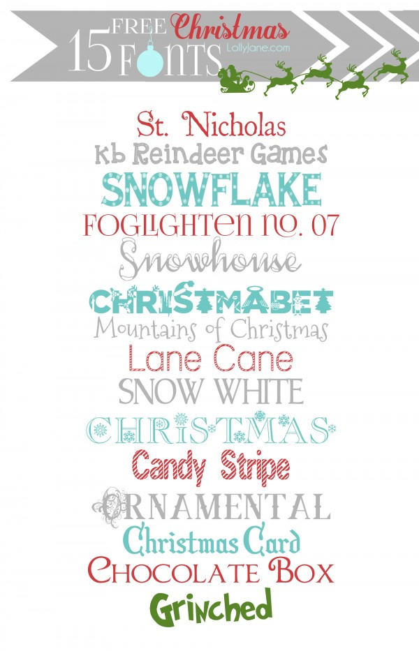 15 cute FREE Christmas fonts #fonts