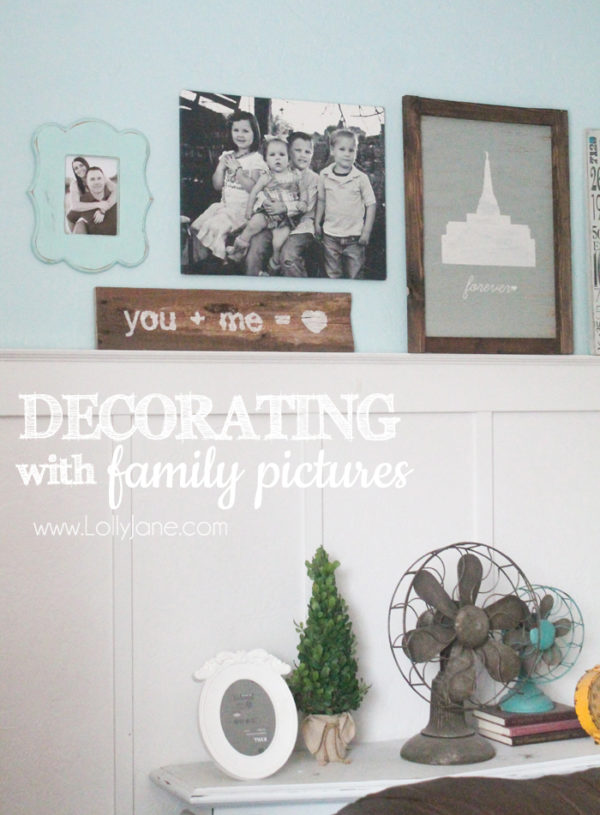 Decorating with Family Pictures... love this gallery wall!