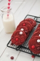 Chewy Red Velvet M&M Cake Mix Cookies. So good!