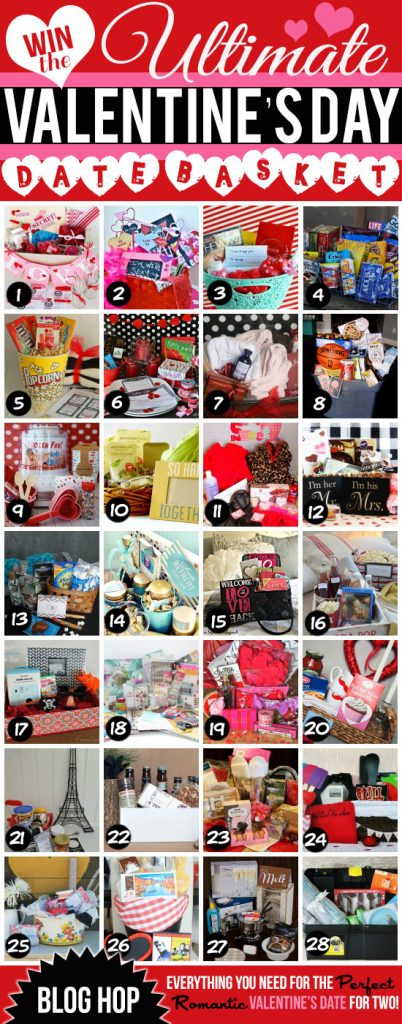 Win the Ultimate Valentine's Day Date basket! <3 .....28 baskets up for grabs! Enter today!