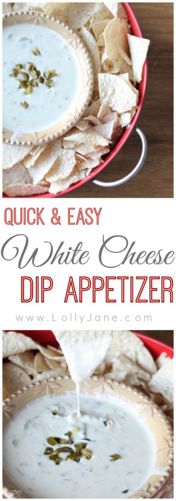 Seriously delish White Cheese Dip, perfect for entertaining or the big game day!