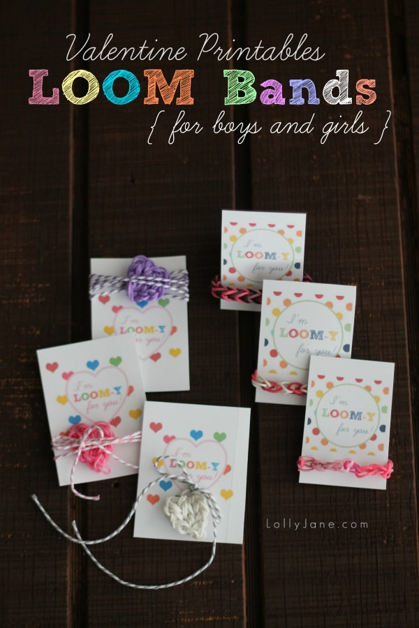 Adorable loom band lover gift idea for Valentine