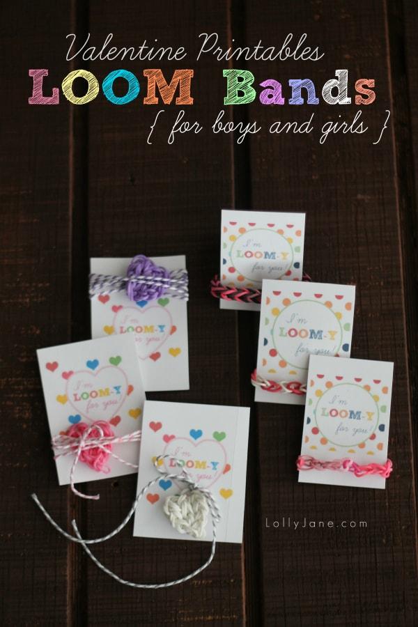 Loom Band Valentine Printables