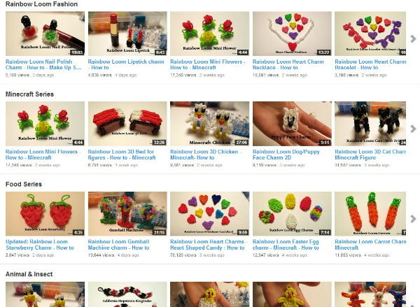 Link to HUNDREDS of Rainbow Loom VIDEO tutorials!! Easy step by step instructions for kids!