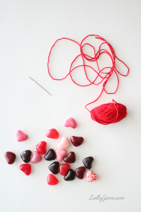 How to make an easy, edible candy heart bracelet for Valentine