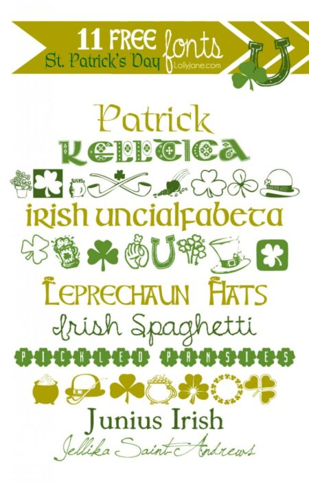 11 Free St. Patricks Day Fonts