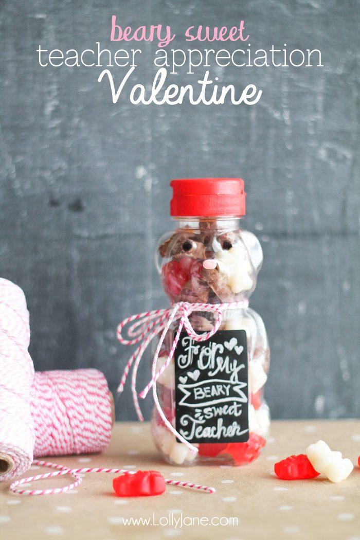 Beary Sweet Teacher Appreciation Valentine
