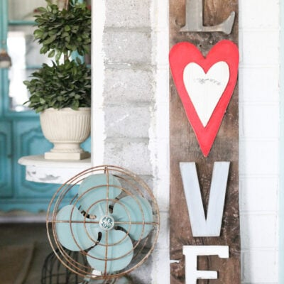 Rustic LOVE Barnwood Sign