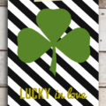 "FREE ""Lucky in Love"" St. Patrick's Day printable (with 3 other styles to choose from!) #stpatricksday #freeprintable"