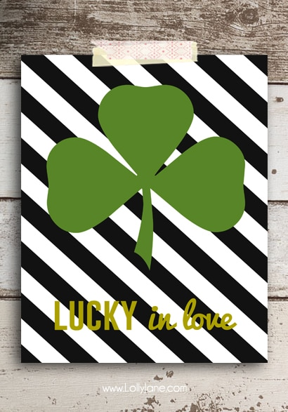 free st patrick s day striped shamrock printables