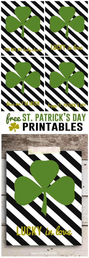 FREE St. Patrick's Day printables. Cute!!