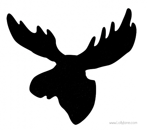 Moose Head Silhouette Pattern Moose head silhouette pattern