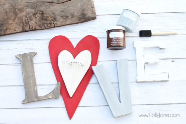 "Cute sign! Rustic looking ""LOVE"" letters on barnwood! Perfect year round decor!"