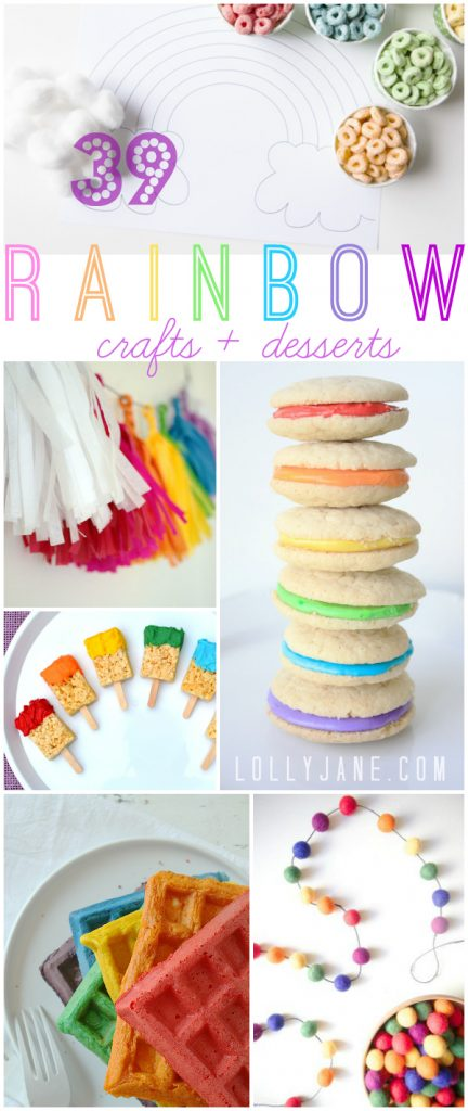 Rainbow Craft & Dessert ideas